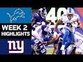 Lions vs. Giants | NFL Week 2 Game Highlights MP3