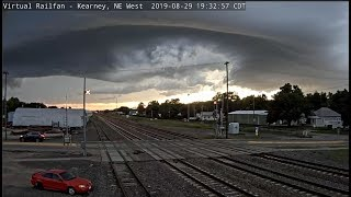 DRAMATIC SKY WITH TRAINS! KEARNEY, NE  (Timelapse)