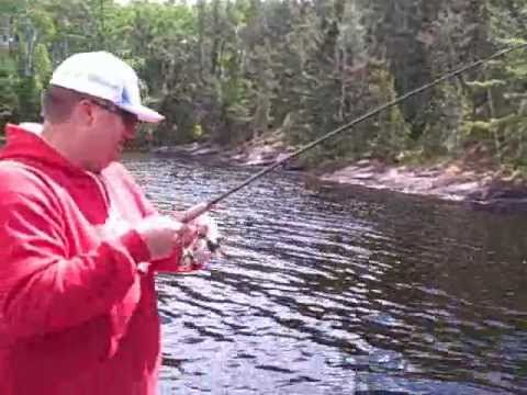 Crane Lake Mn Fishing  Sight fishing for bass June 2011