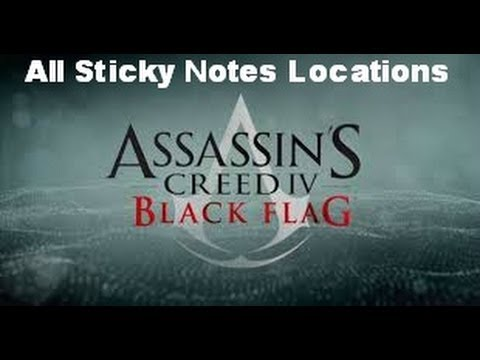 Assassin's Creed IV: Black Flag - All Sticky Notes Locations