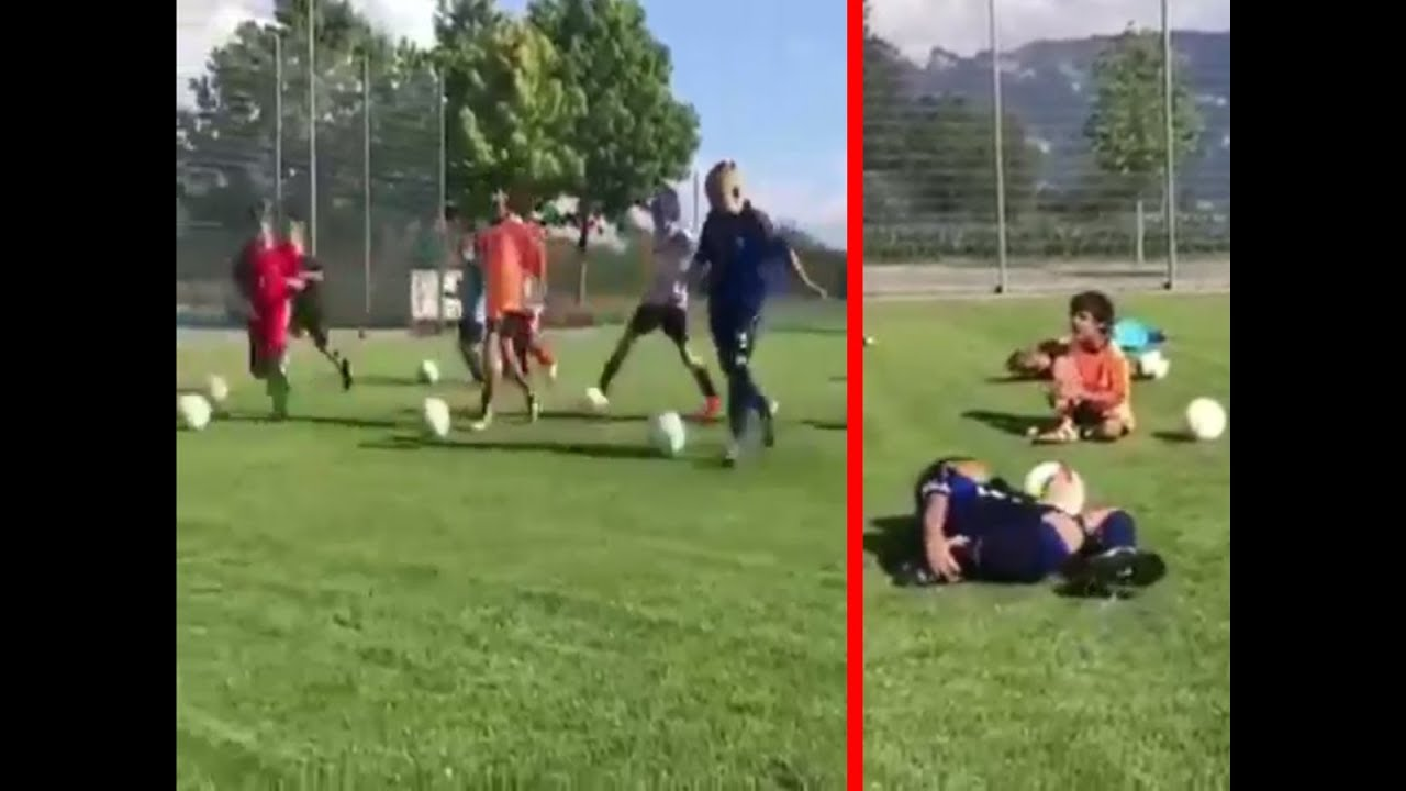 Viral video: School children train to 'dive' like Neymar