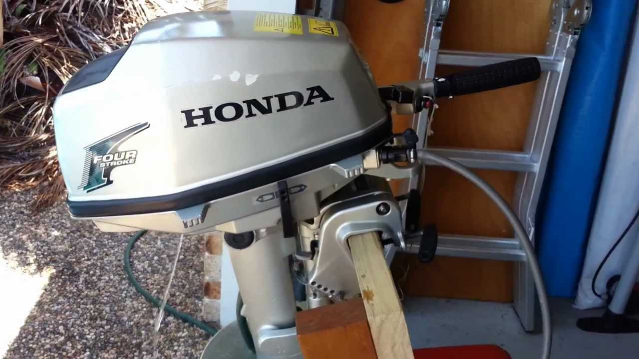 Honda 5 hp outboard youtube for 10 hp outboard jet motor