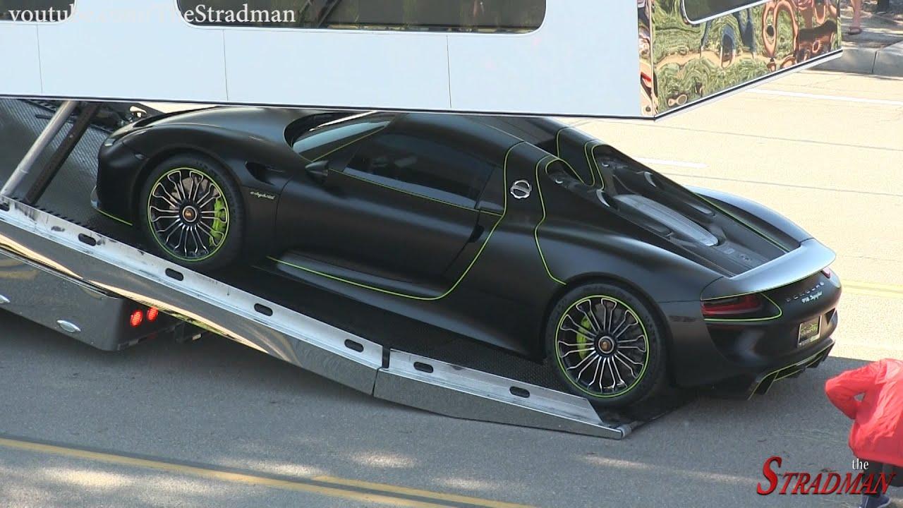 Unloading a Million Dollar Supercar: The Tron Porsche 918 ...