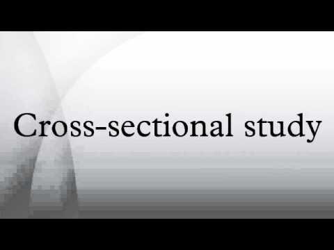 Cross Sectional Study Design Cross Sectional Study