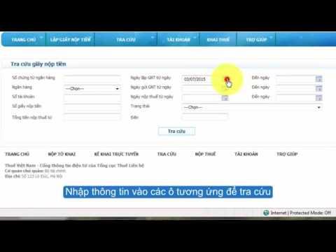 Hướng dẫn tra cứu giấy nộp tiền dịch vụ nộp thuế điện tử