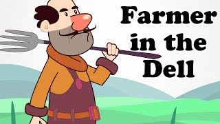 The Farmer in the Dell | Cartoon Nursery Rhymes Songs For Children