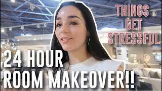 24 hour room makeover...things get stressful!