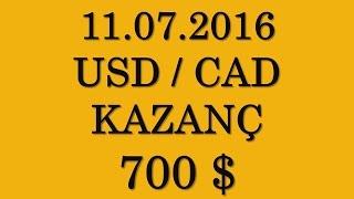 İkili Opsiyonlardan Para Kazanmak I USD CAD 700 Dolar