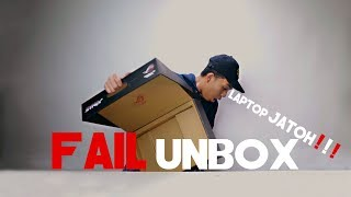 "GAGAL UNBOX ""LAPTOPNYA JATOH!"" | ASUS ROG"