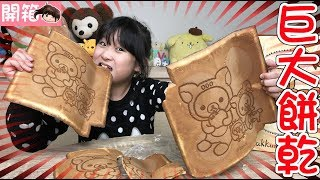 【開箱】超大拉拉熊餅乾與台南得到的一些東西介紹[NyoNyoTV妞妞TV玩具]