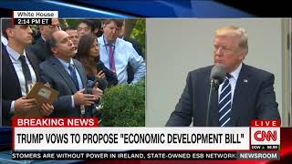 Reporter asks Trump if there