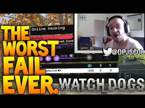 WORST FAIL EVER! FAILED ON 100% OF A HACK! Watch Dogs Online Hacking Gameplay!