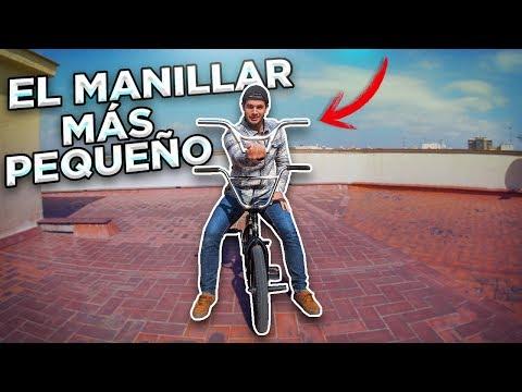 ME PONGO EL MANILLAR DE BMX MÁS PEQUEÑO DEL MUNDO - Probando trucos con mi hermano!!
