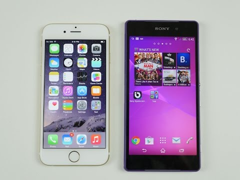 iPhone 6 VS Sony Z2 Comparison and SPEED TEST