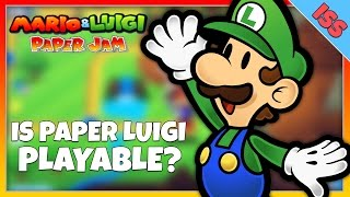 Is Paper Luigi Playable in Mario & Luigi Paper Jam?