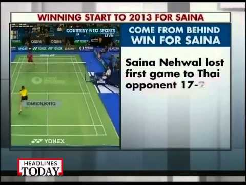Saina Nehwal's winning start to 2013