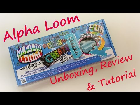 Alpha Loom Unboxing. Review & Tutorial by feelinspiffy (Rainbow Loom)