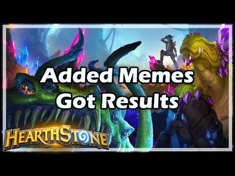 [Hearthstone] Added Memes, Got Results