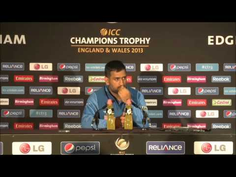 MS Dhoni Post-match Press Conference, England v India, ICC CT Final, 23 June 2013