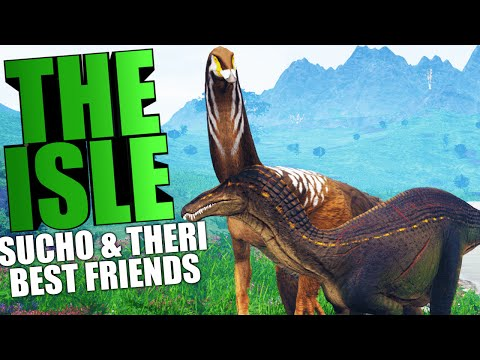 The Isle - SUCHOMIMUS & THERIZINOSAURUS BEST FRIENDS, DIABLO LOVER (The Isle Funny Moments Gameplay)