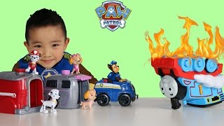 Pup To Hero Paw Patrol Rescue Thomas The Tank Engine Toys Unboxing With Ckn Toys