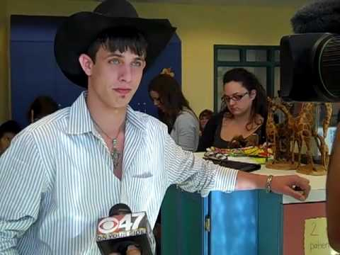 Professional Bull Rider JB Mauney visits Children's Video