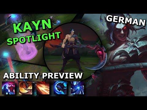 Kayn ABILITY SPOTLIGHT | League of Legends new Champion Spotlight German