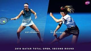Jelena Ostapenko vs. Elina Svitolina | 2019 Qatar Total Open Second Round | WTA Highlights