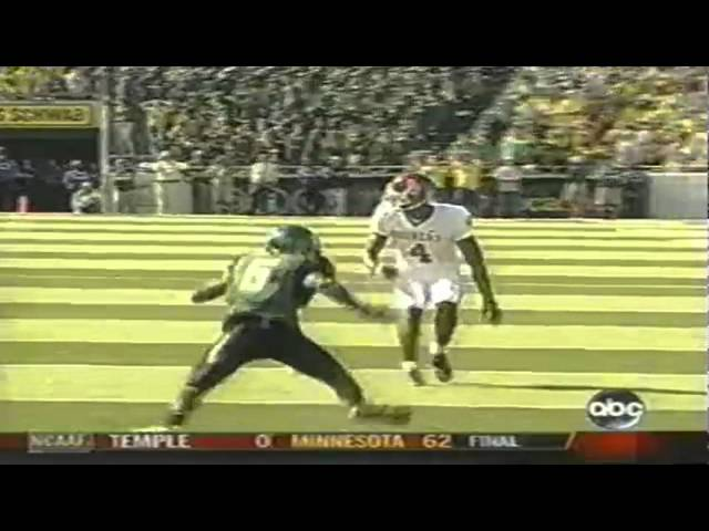 Horrible no-call by refs lets OU WR Malcolm Kelly TD catch stand vs. UO 9-16-06