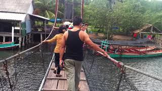 ស្ពានយោល ព្រៃកោងកាង ខេត្តកោះកុង Suspension Bridge at Prey Kongkang, Koh Kong