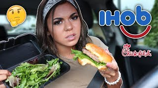 TRYING IHOP NEW BURGERS! ...then getting Chick Fil A