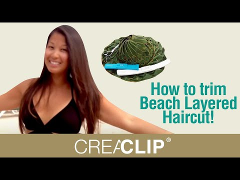 How to trim Beach Layered Haircut! CreaClip Haircutting Live Vol 2 - In the Caribbean