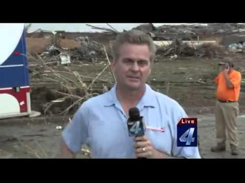 Oklahoma Reporter Emotional Report on Tornado that Destroyed Elementary School