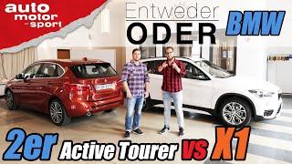 BMW X1 vs 2er Active Tourer | Entweder ODER | (Vergleich/Review) auto motor und sport