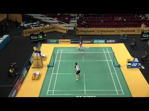2012 Malaysia Open (SS) - WS R32 - Wang SX [CHN] vs Li [CAN] - Game 2