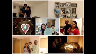 #ANNIVERSARY VLOG / Surprize Gift/ Hubby's chicken/ Candle Light Dinner/Telugu vlogs