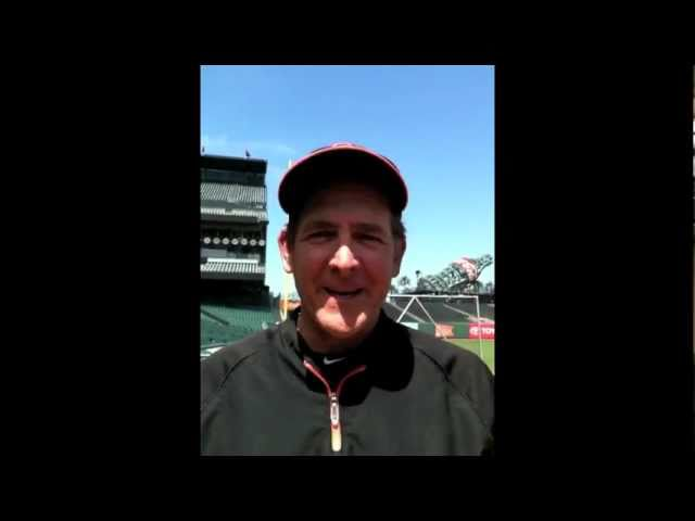 Dave Righetti of world champion SF Giants gives shout-out to Alfie Boe