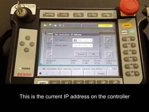 DENSO Robotics – ORiN2 Setup on RC7 – Setting IP address