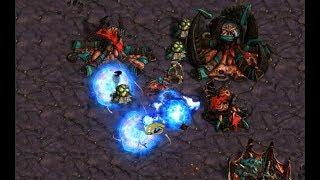 Mamon (Z) v tjd (P) on Destination - StarCraft  - Brood War REMASTERED 2019