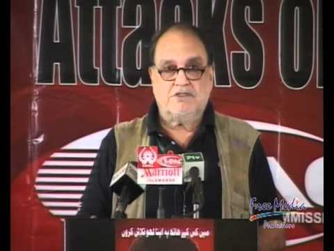 Attacks on Journalists and Media Freedom - Conference, Khaled Ahmed