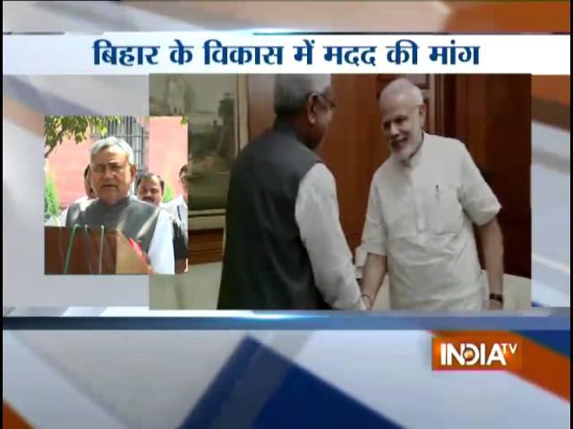 Nitish meets Modi, seeks Centre's help for Bihar