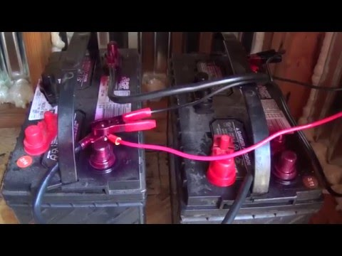 🔥Wiring 2 12 Volt Batteries in Parallel - Solar Panel. Charge Controller. Inverter