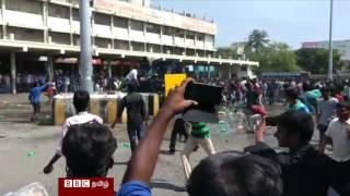 ஜல்லிக்கட்டு: பேருந்து நிலையம் ஒன்றில் நிகழ்ந்த வன்செயல் சம்பவம்