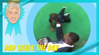 Ellen Celebrates Dads Saving the Day