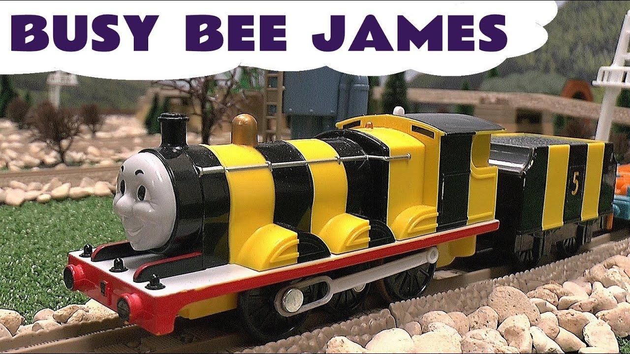 Spotlight Thomas & Friends Busy Bee James by Tomy Takara for Trackmaster Toy Train Set Thomas ...