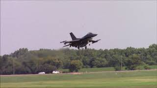 F-16's Practicing - South Dakota ANG (Sioux Falls Airport Plane Spotting)