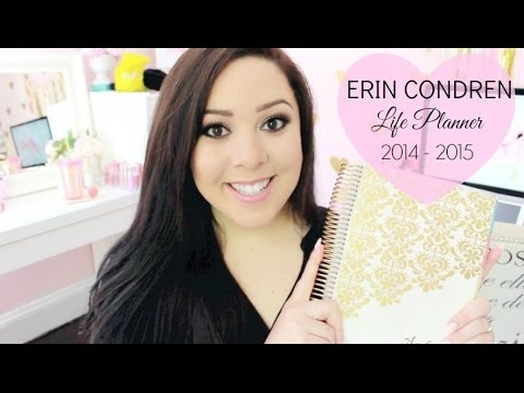 Erin Condren Life Planner 2014/2015 Overview and Unboxing   How I Stay Organized
