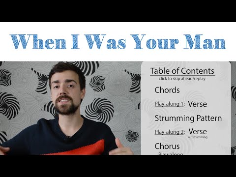 Bruno Mars When I Was Your Man Guitar Tutorial  Simple Chords & Strumming