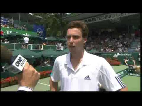 Ernests Gulbis talks about his racket throwing *skills* Video