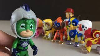 Mighty Pups and PJ Masks Save the Moon || Keith's Toy Box